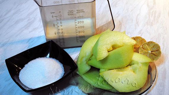 Inghetata rapida de pepene galben / Melone gelato