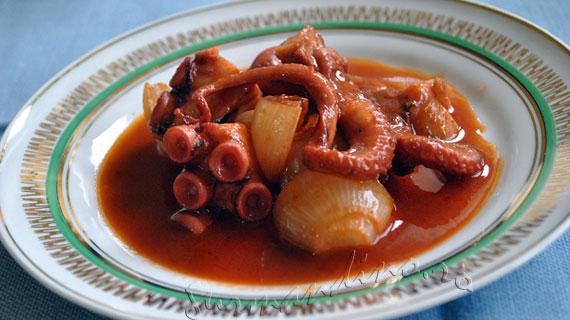 Stufat de caracatita - Htapodi stifado