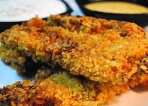 Articole culinare : Pui pane in fulgi de porumb