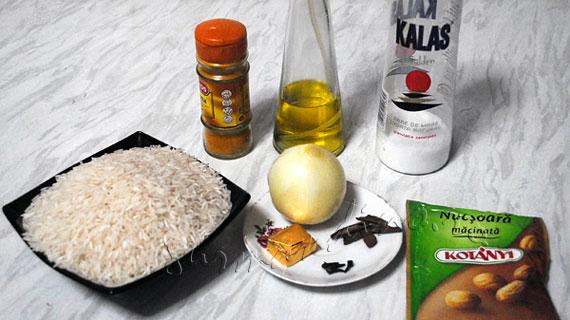Orez basmati cu scortisoara, cuisoare si sofran indian