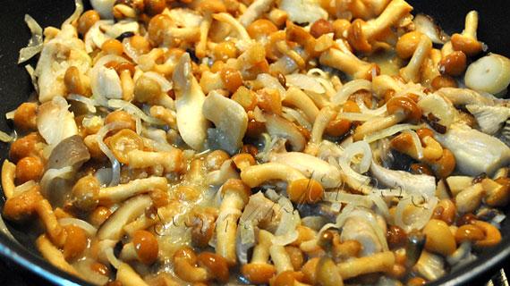 Mancare rapida de ciuperci