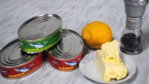 Pasta de sardine cu unt