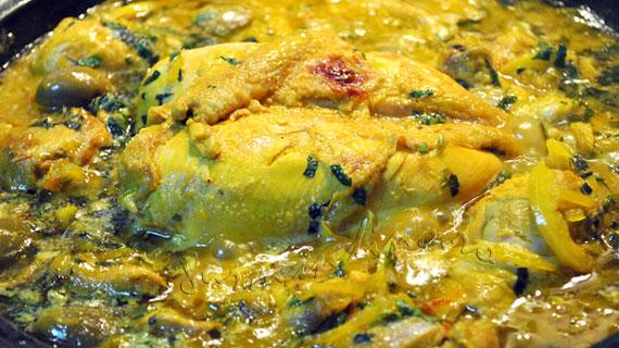 Pui Tajine cu masline verzi si lamaie