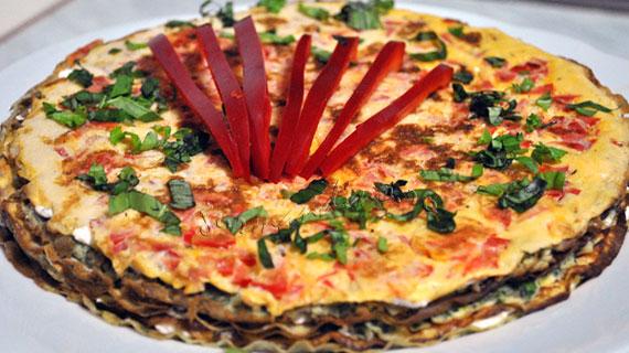 Crespeou - tort provensal de omleta cu ardei si spanac