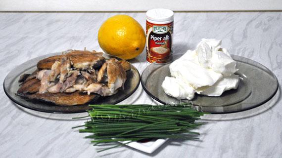 Pasta de macrou afumat cu arpagic