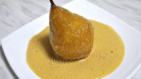Pere caramelizate in sabayon cu parfum alsacian