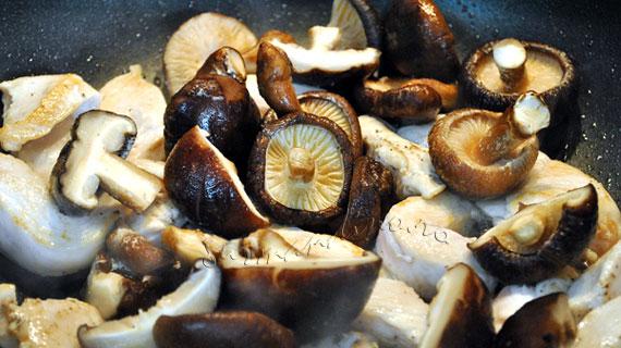 Blanquette de pui cu ciuperci shiitake