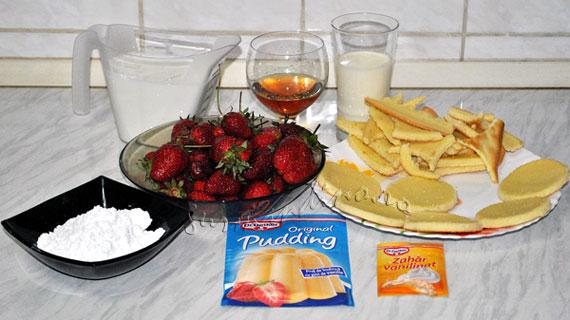 Trifle rapide cu capsune