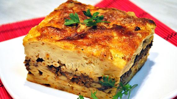 Pastitsio - lasagna greceasca cu scortisoara si branza