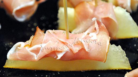 Prosciutto e Melone sau Prosciutto cu pepene galben