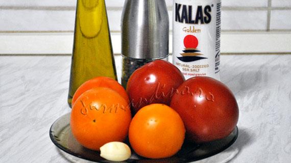 Salata de rosii cu usturoi