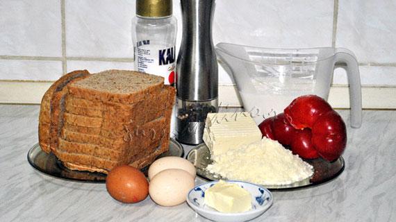 Papara de paine cu oua, branza si lapte