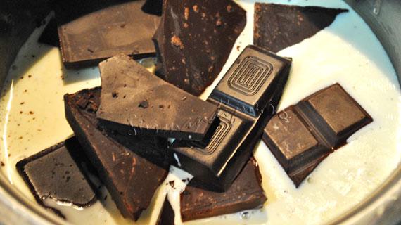 Bûche de Noël / Buturuga de Craciun - rulada de pandispan in ciocolata