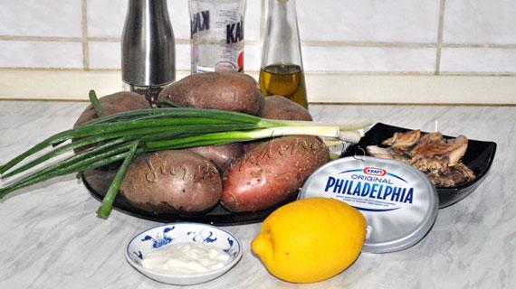 Cartofi copti umpluti cu pate de macrou cu hrean