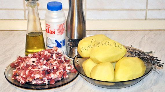 Cartofi la cuptor cu bacon si rozmarin