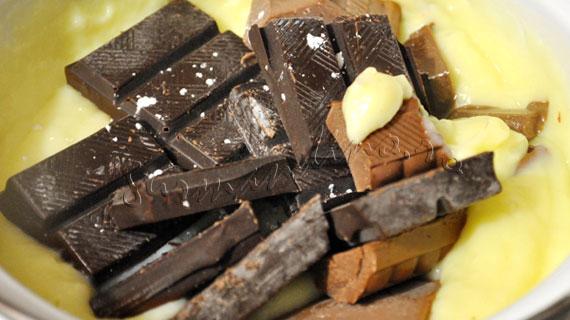 Eclere cu crema de ciocolata si glazura de ciocolata
