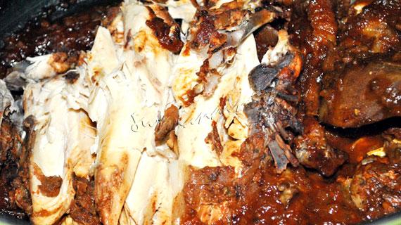 Pui fasii cu ghimbir, chimion, mustar de Dijon, sos Worcestershire si sirop de artar