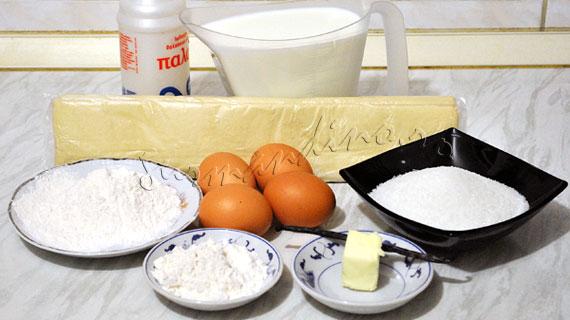 Rulouri din foietaj cu crema de vanilie