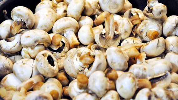 Tocanita de ciuperci cu mamaliguta