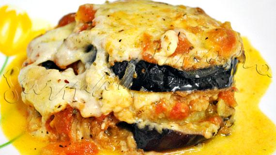 Parmigiana di Melanzane sau reteta de vinete gratinate cu mozzarella si parmezan