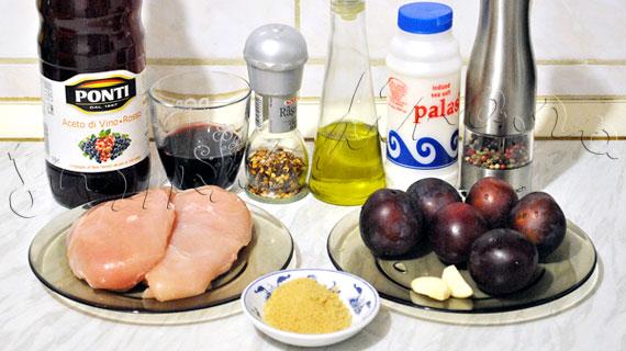 Pui la gratar cu chutney (sos) de prune