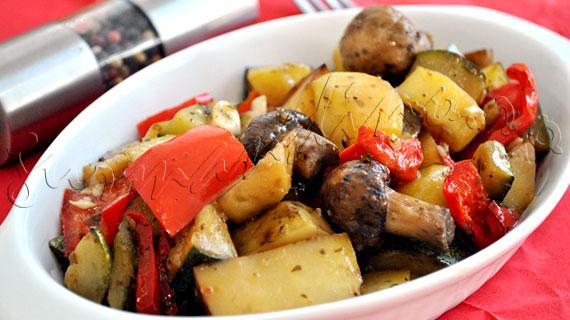 Reteta de post de legume la cuptor in stil italian