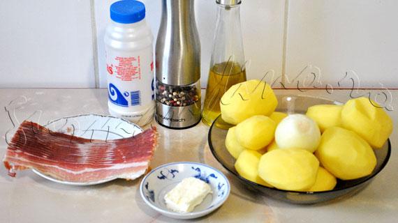 Reteta elevetiana de cartofi - Rosti la cuptor, cu bacon si ceapa