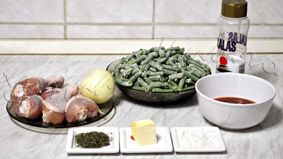 Reteta de mancare de fasole verde cu pui