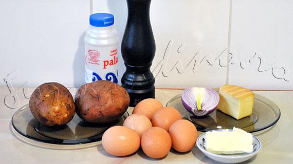 Reteta mic-dejun - Oua coapte, in cuib de cartofi si cascaval