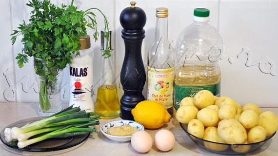 Reteta de salata de cartofi cu ceapa verde si maioneza ultra-rapida, facuta cu blenderul