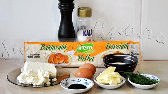 Reteta de pateuri turcesti - Börek cu branza feta si iaurt