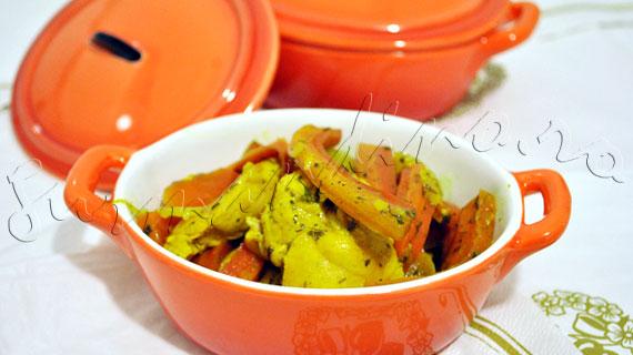 Reteta de pui sote cu morcov, ghimbir si miere