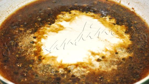 Reteta de friptura - vrabioara de vita Angus cu sos de piper verde