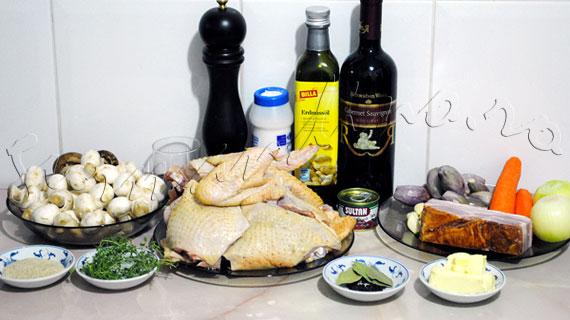 Reteta frantuzeasca - Coq au vin sau cocos in vin