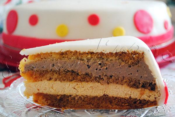 Reteta de tort duo mousse de caramel si ciocolata cu lapte