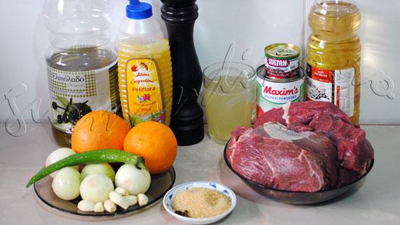 Reteta de friptura de vita la cuptor cu portocala si miere