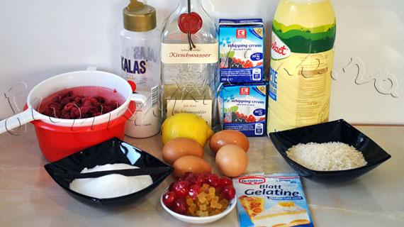 Reteta frantuzeasca - Orez in stilul imparatesei sau Budinca de orez cu fructe confiate si sos de zmeura