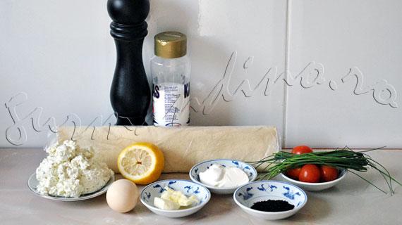 Reteta antreu rece: Conuri din foietaj cu crema de branza cu ierburi si rosii