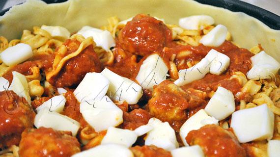 Il Timballo - Placinta italieneasca, cu paste, carne, legume si branzeturi
