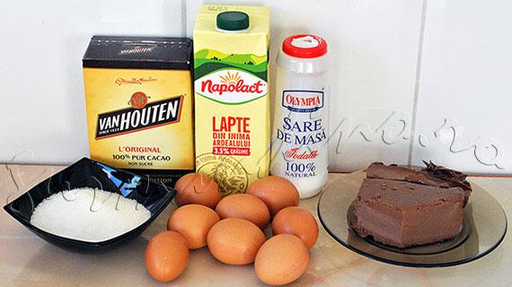 Reteta Inghetata Gianduja (ciocolata neagra cu pasta de alune de padure)